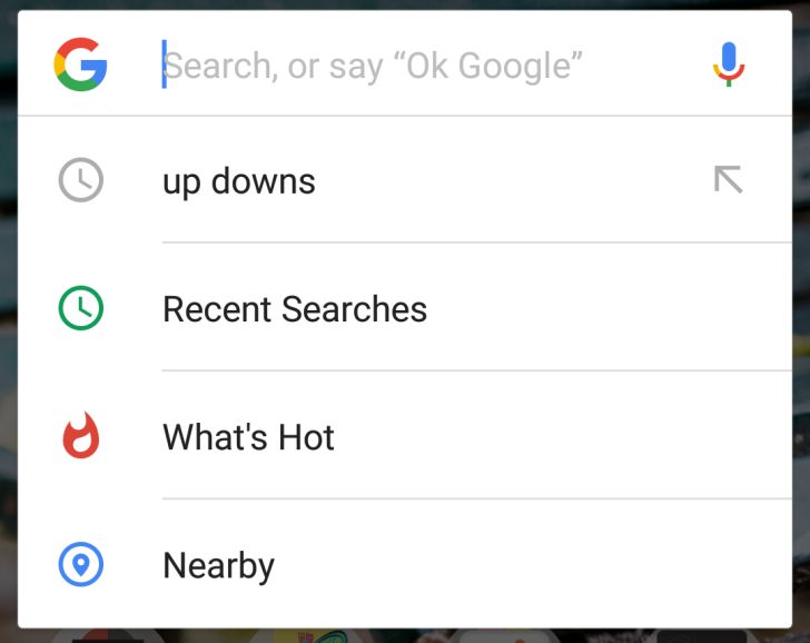 Google Experiments With New Options In The Android Search Bar's
