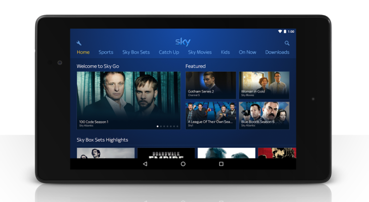 Sky Go Android App Gets A New Homepage, Tablet Interface ...