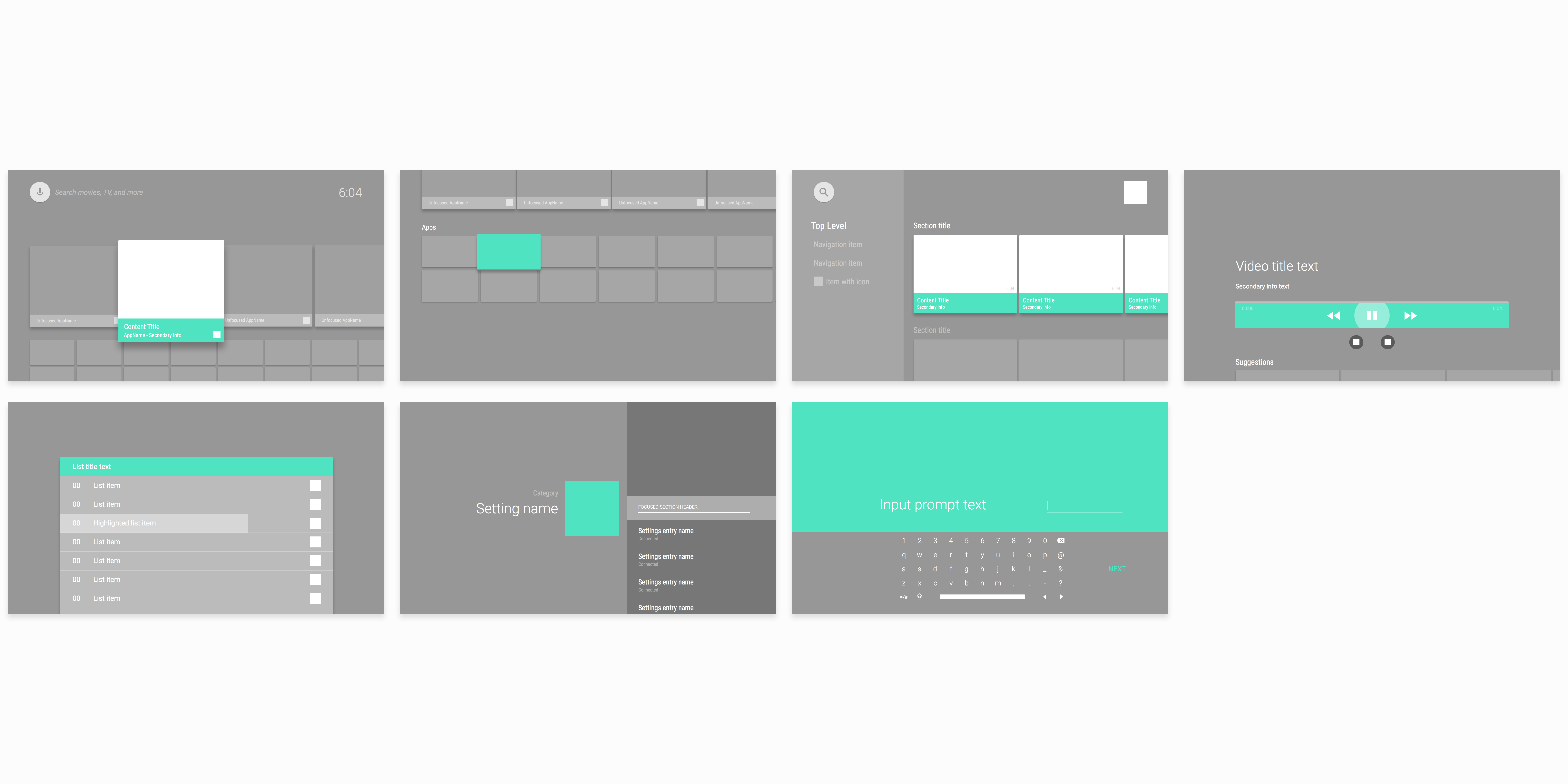 Download: 7 Android TV UI Frames To Quickly Sketch Interfaces For