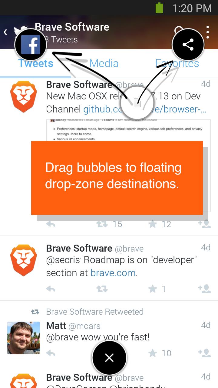 Resultado de imagem para brave link bubble