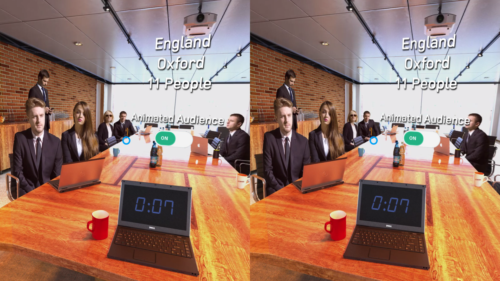 public speaking for cardboard lets you practice speaking in front of a virtual audience