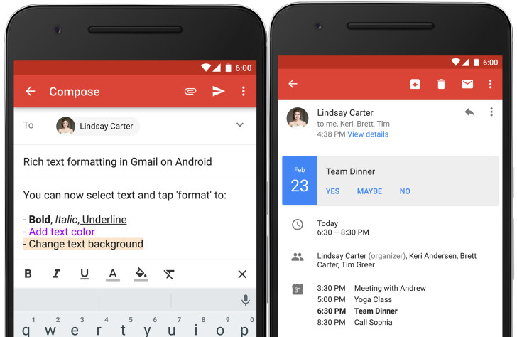 Gmail Updated To v6 0 With Rich Text Formatting And Instant RSVPs