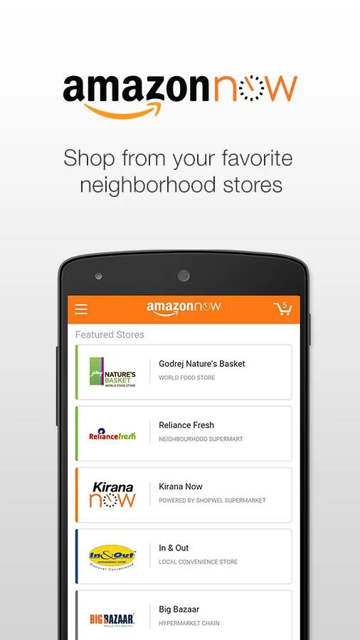amazon now local shopping deliveries for bangalore india gets a dedicated android app. Black Bedroom Furniture Sets. Home Design Ideas