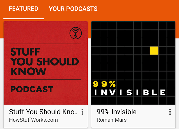 Google Play Music's Podcasts Interface And Functionality Is