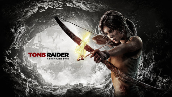 tomb_raider_2013___wallpaper_bow_and_fire_arrow_2_by_atomicxmario-d6364yq