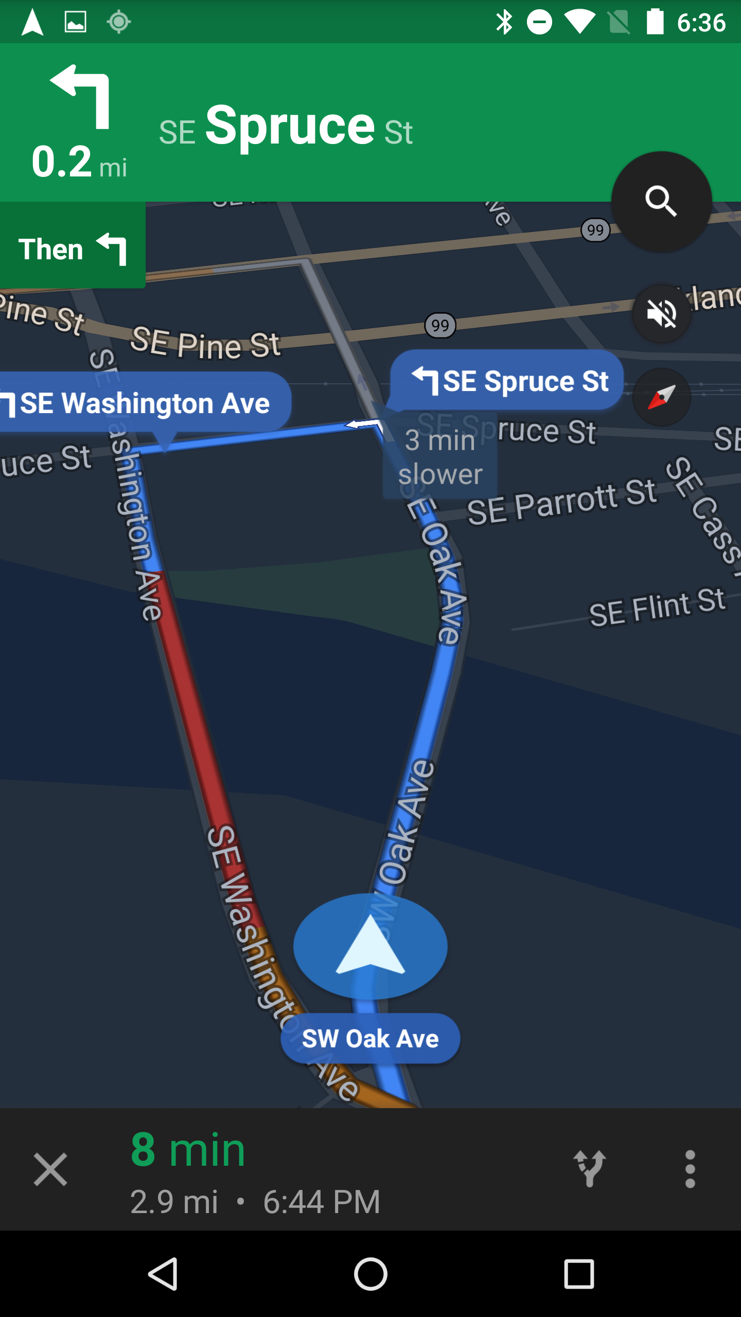 Google Maps Navigation Bubbles Containing Street And Exit ...