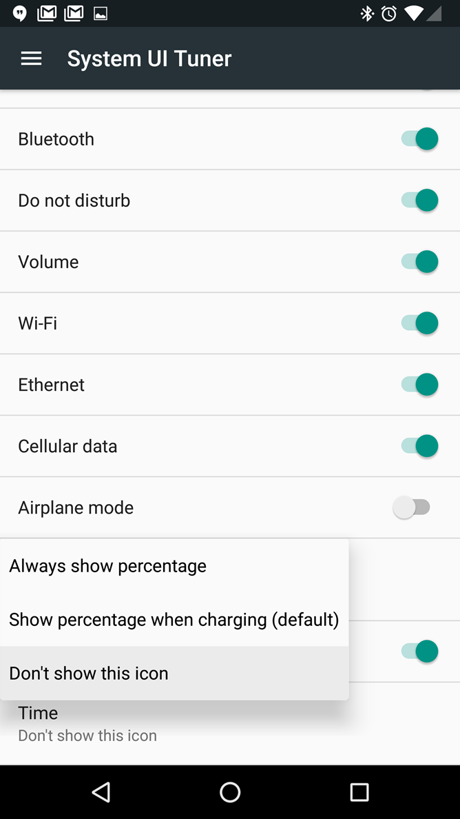 Android N Feature Spotlight System Ui Tuner Expands Status Bar