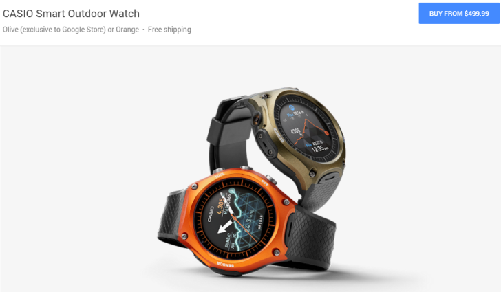 [Update: Also On Amazon, REI, And Casio Store] The Casio Android Wear Watch Is Now Available For $500 From The Google Store