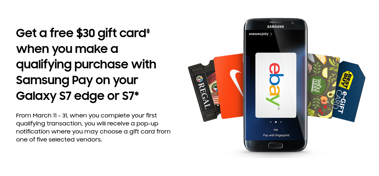 how to use samsung pay gift card online