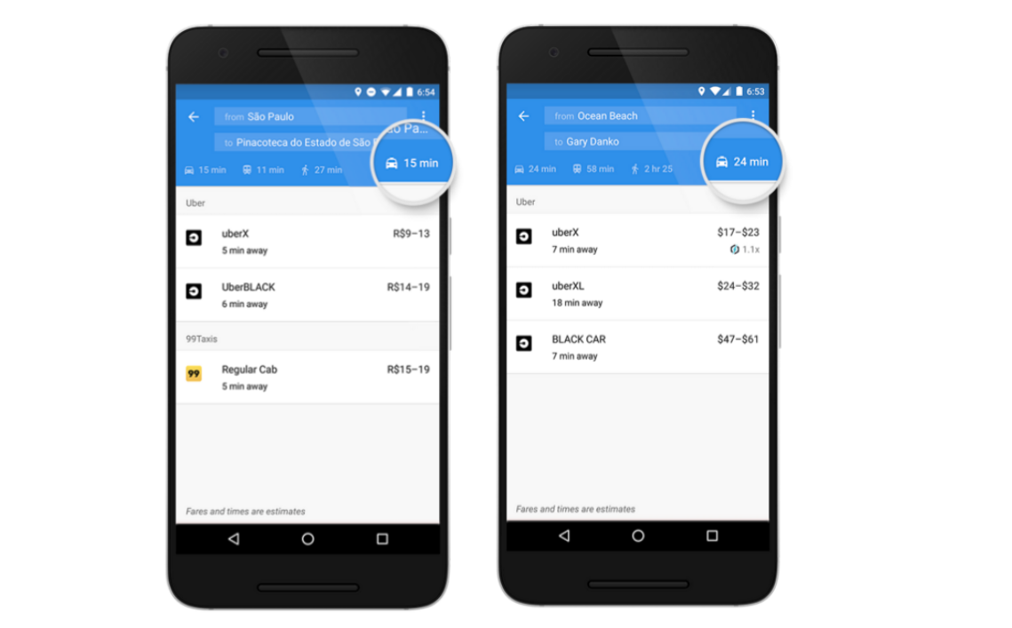 Google Maps On Android Will Now Show A Dedicated RideSharing Tab - Nyc subway map google earth