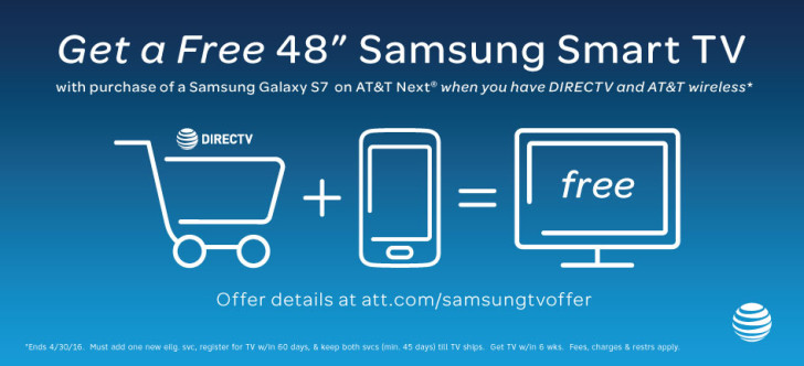 at t is giving away a free 48 inch samsung smart tv when. Black Bedroom Furniture Sets. Home Design Ideas