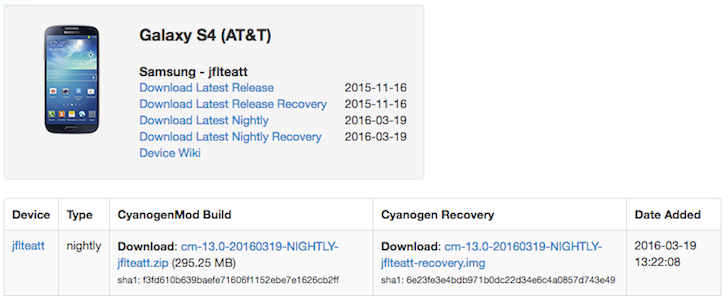 CyanogenMod 13 Nightlies Are Available For The AT&T And