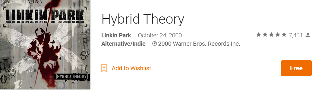 Deal Alert Linkin Park S Best Selling Album Hybrid Theory