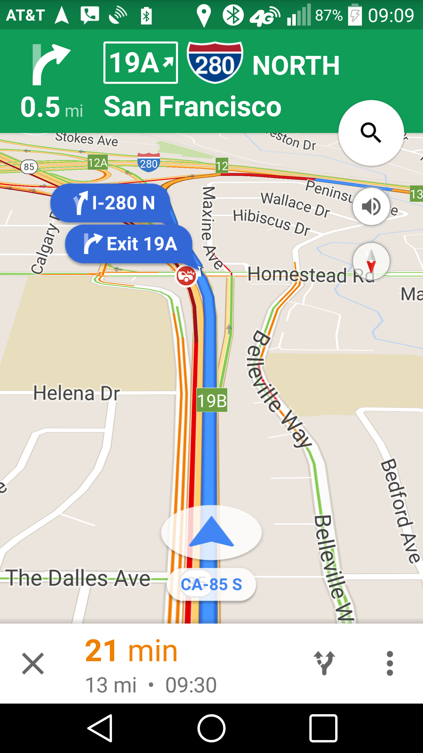 Google Maps Navigation Bubbles Containing Street And Exit