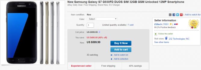 2016-04-06 15_52_32-New Samsung Galaxy S7 G930FD Duos Sim 32GB GSM Unlocked 12MP Smartphone _ eBay
