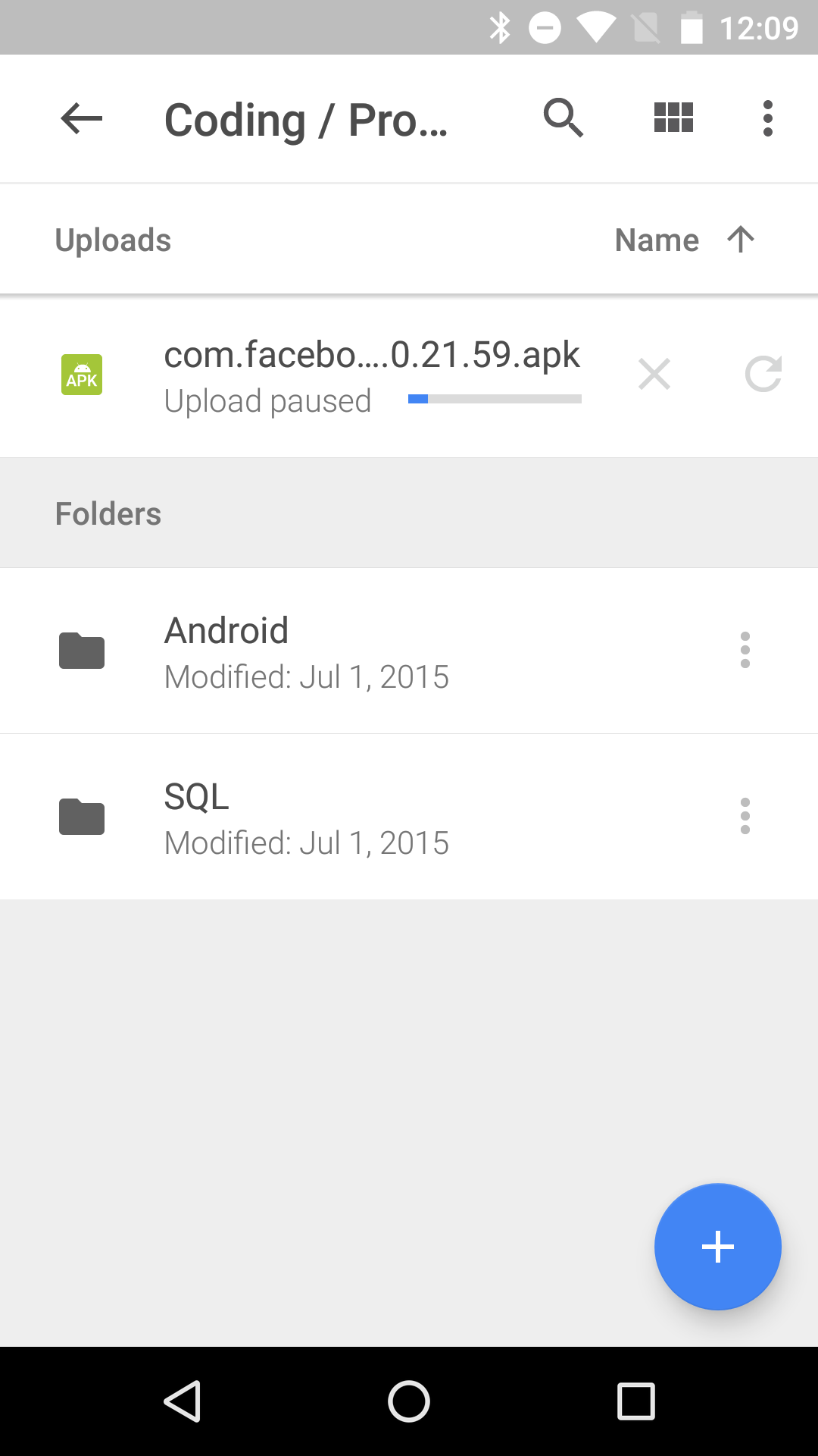 how to add folders to google drive backup on android