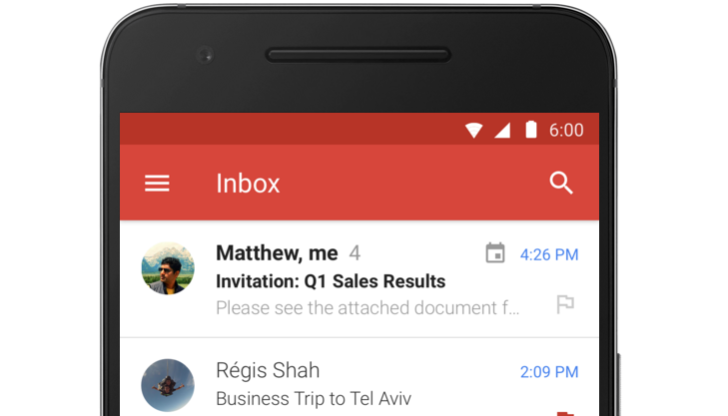 Exchange in Gmail