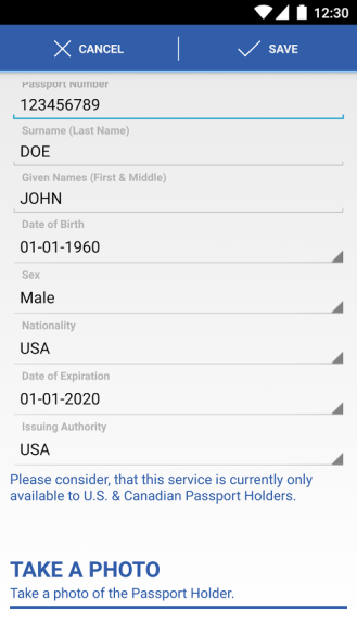 MobilePassportScreenshot