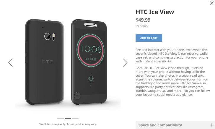 san francisco a874b 6c385 HTC's Dot View Case Is Being Replaced With The HTC Ice View Case For ...