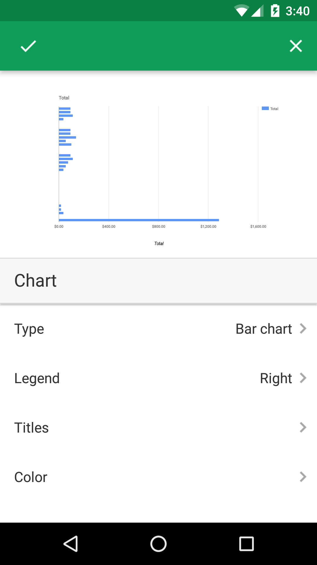 how to add more horizontal axis in google sheets