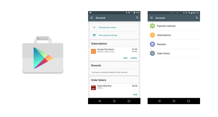 how to change google play account on android