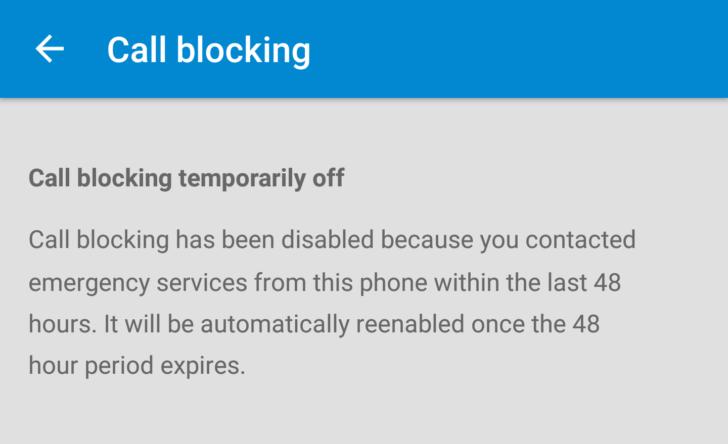 CallBlocking