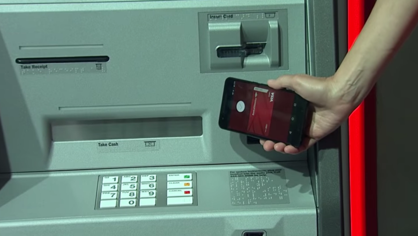 how to use android pay at atm