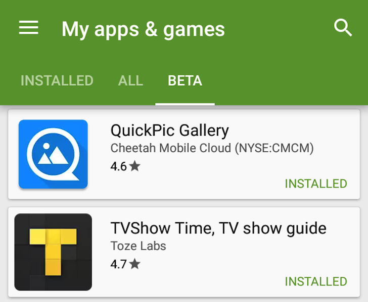 Update: 6 8] Latest Play Store 6 7 Enables The Beta Testing