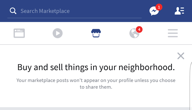 facebook marketplace starts showing up inside the android app. Black Bedroom Furniture Sets. Home Design Ideas