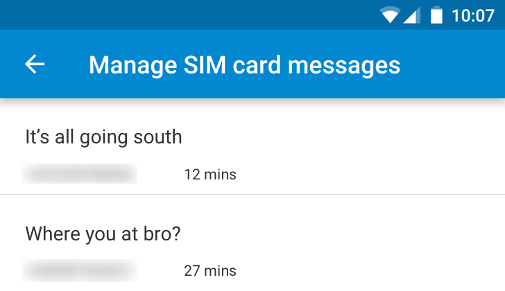 Messenger 1 8 266 Adds A SIM Card Messages Manager [APK Download]