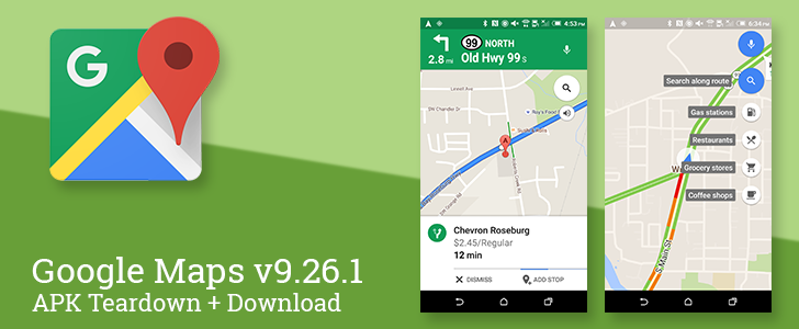 Google Maps v9.26.1 Adds Search Along Route For Walking And Bicycling, Changes Driving Mode FABs, Adds New Settings, And More [APK Teardown + Download]