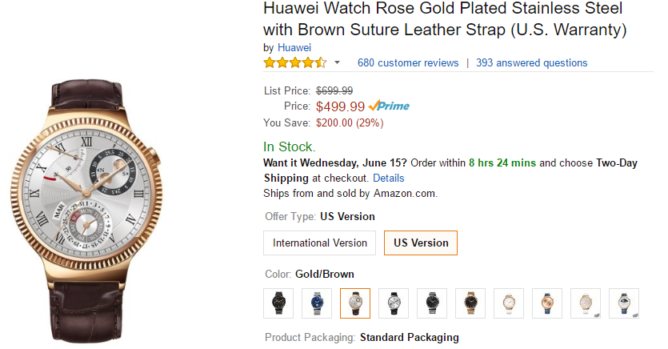 2016-06-13 16_07_49-Amazon.com_ Huawei Watch Stainless Steel with Stainless Steel Link Band (U.S. Wa