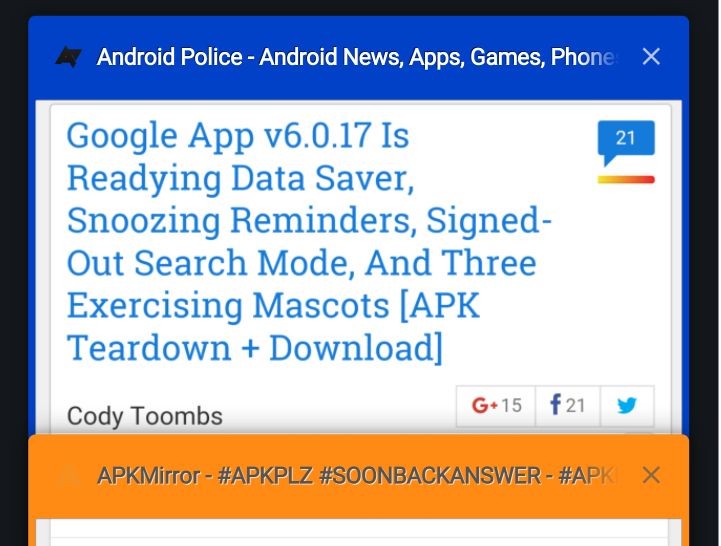 Chrome Dev 53 Adds Flag To Show Tab Colors In Tab Manager UI [APK
