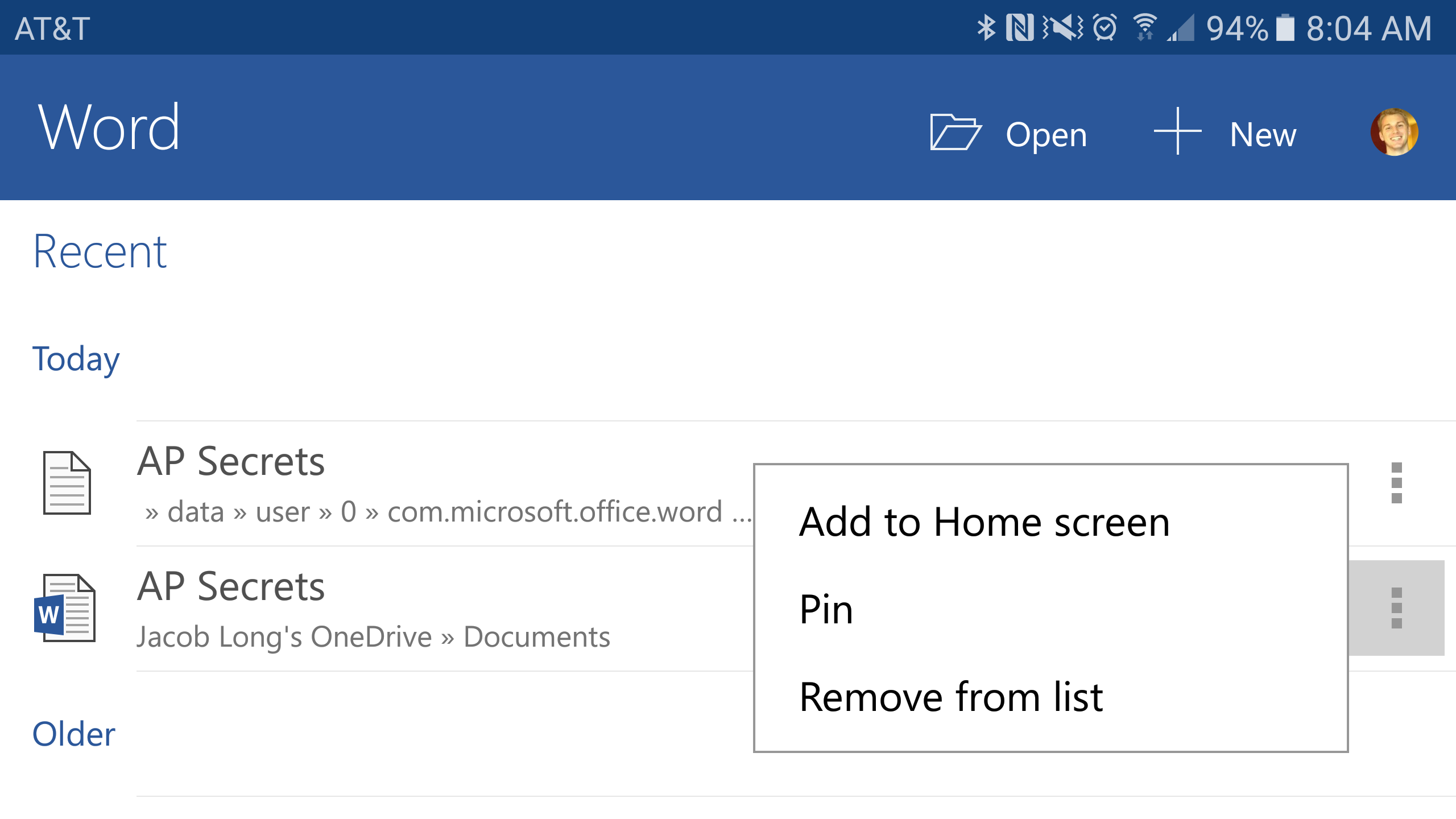 Latest Android update for Microsoft Word, PowerPoint, and Excel