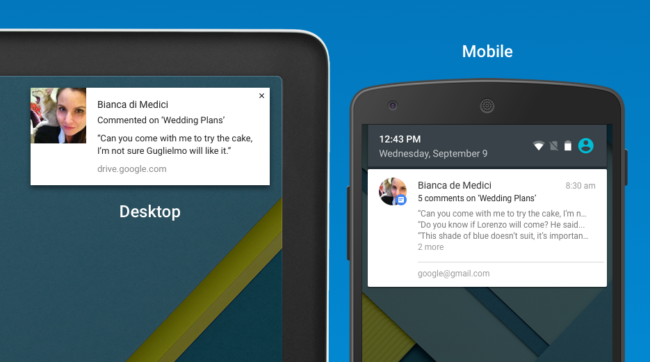 Google docs sheets and slides show comment notifications for Google docs for android apk