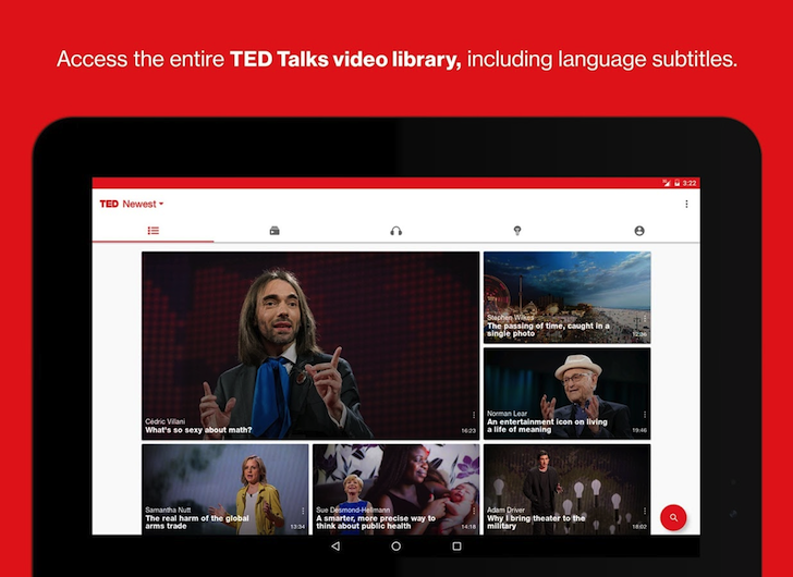 TED app gets full Material Design makeover and adds TED Radio Hour podcast episodes