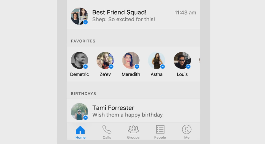 how to change messenger layout