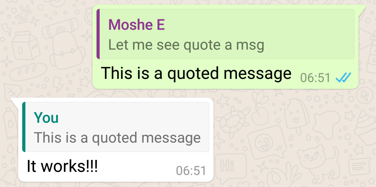 WhatsApp 2.16.118 Beta Adds Message Quotes And Replies
