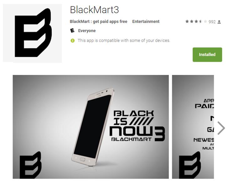 Hey Google, a warez market called BlackMart has been in the
