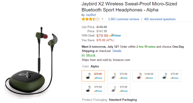2016-07-11 11_15_28-Amazon.com_ Jaybird X2 Sport Wireless Bluetooth Headphones - Midnight Black_ Cel
