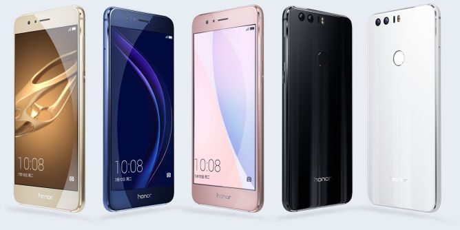 Huawei Honor 8 color choices.