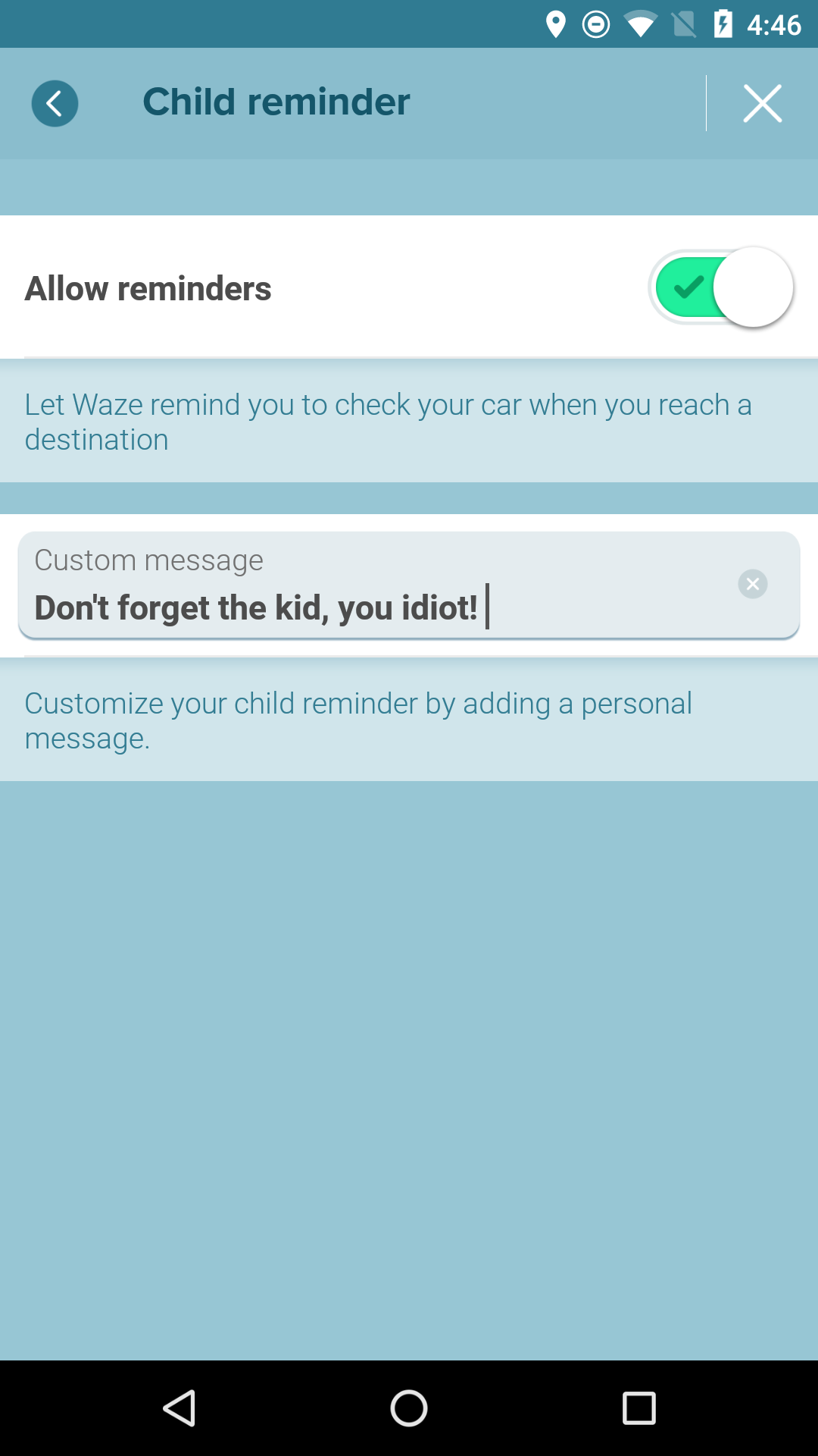 Waze beta reminds you not to forget your kid in the car