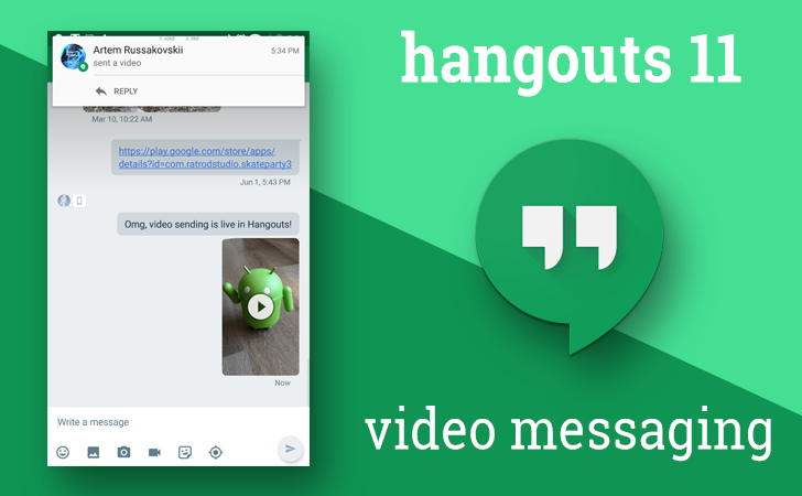 Google Hangouts for Android gains video messaging, loses SMS merging