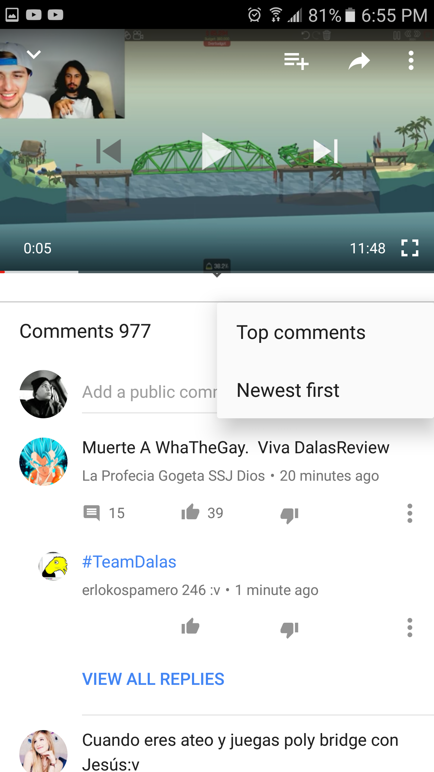 YouTube is testing an improved comment UI in the Android