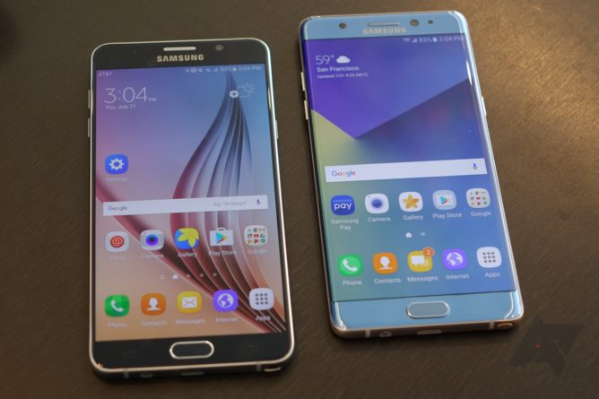 Left: Note5, Right: Note7