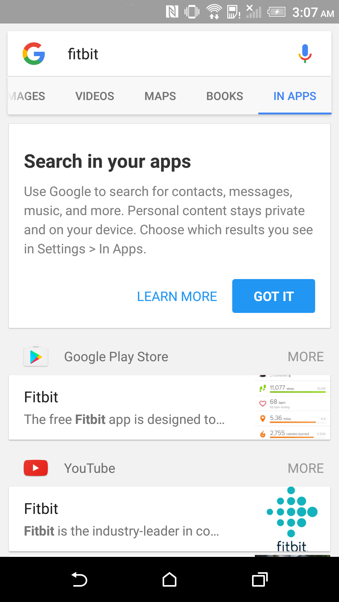 Google announces Search In Apps, a new way to search for