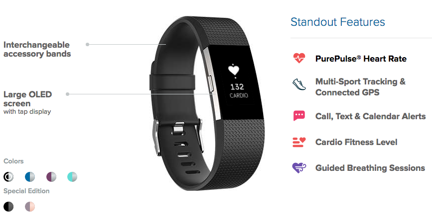 fitbit,charge,2,specs