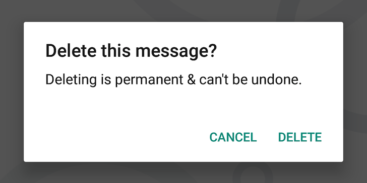 how to get deleted messages on hangouts