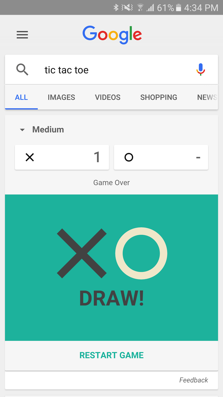 how to beat google impossible tic tac toe