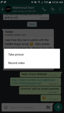 how to send gifs in iphone x in whatsapp